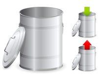 métal de poubelle Photographie stock libre de droits