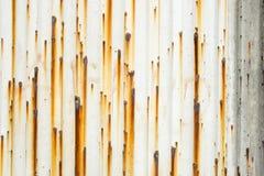 Métal en acier avec la texture de rouille Images libres de droits