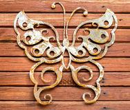 Métal et texture en bois Images libres de droits