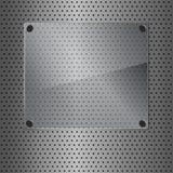 Métal et verre Photographie stock libre de droits
