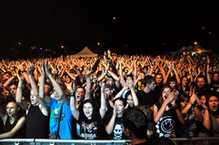 Métal lourd, concert de rock vivant Photos stock