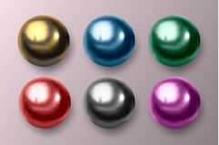 Métal multicolore et boules en plastique Illustration de vecteur illustration stock