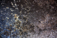 Métal noir corrodé Photos libres de droits