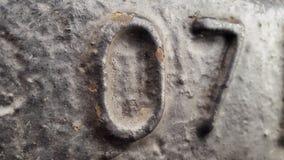 Métal numéro 7 E Image libre de droits