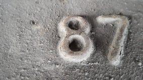 Métal numéro 87 Texture de métal rouillé sous forme de schémas 87 Photo libre de droits