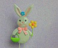 Métal Pâques Bunny Decoration Image libre de droits