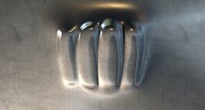 Métal perforé par poing Photo stock