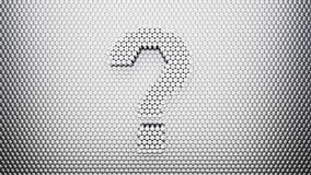 Métal Pin Wall avec le point d'interrogation illustration libre de droits