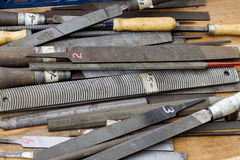 Métal/râpes et dossiers d'acier Photos stock
