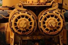 Métal rouillé, texture abandonnée d'objet de véhicule photographie stock