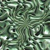 Métal sans couture onduleux de vert de fond Photographie stock