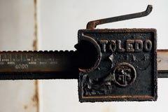 Métal Toledo Scale Detail - Chambre abandonnée d'Éther-mélange - Indiana Army Ammunition Depot - l'Indiana abandonnés photo libre de droits