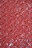 Métal usé rouge de plaque de diamant Photo libre de droits