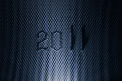 Métal vert et 2011 ans Photographie stock