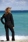 Métaphore d'affaires : Vacances fonctionnantes Photos stock