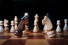 Métaphore d'hommes d'affaires de pièces d'échecs images libres de droits