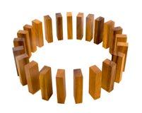 Métaphore de cercle de bloc de bois de construction Photos stock