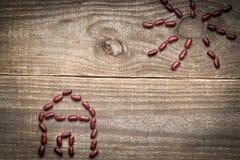 métaphore de maison d'eco des haricots rouges Photos libres de droits
