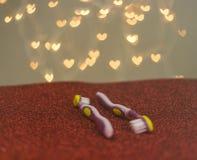 Métaphore gaie de visuel de brosse à dents de couples de LGBT Image libre de droits