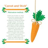 Méthode de motivation pour obtenir la carotte Photos stock