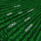 Méthodes d'attaque de cyber en code machine Images stock