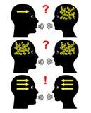 Méthodes de communication illustration stock