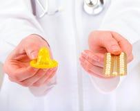 Méthodes de contraception Photos stock