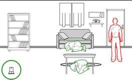Méthodes de protection de tremblement de terre illustration de vecteur
