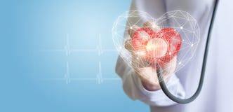 Méthodes modernes de diagnostics du coeur photos stock