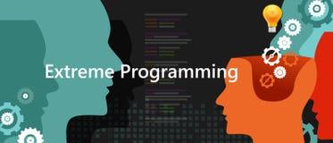 Méthodologie agile de programmation extrême de développement de la programmation de 3tude de xp Photo stock