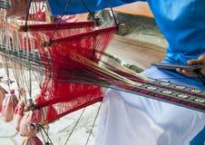 Métier à tisser dans le Vietnamien Photos stock