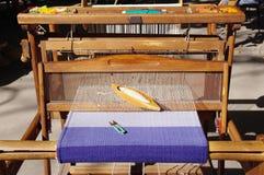 Métier à tisser de main traditionnel pour des tapis, Bulgarie Images libres de droits