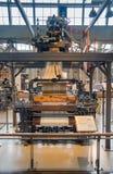 Métier à tisser de pivot de Carl Zangs montré au musée commémoratif de Toyota de l'industrie et de la technologie image stock