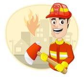 Métier : Chasseur d'incendie Photo stock
