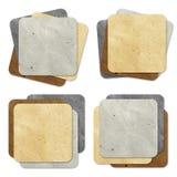 Métier de papier réutilisé par étiquette Photo stock