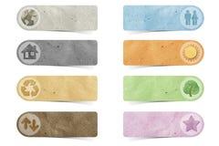 Métier de papier réutilisé par étiquette Photos stock