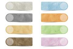 Métier de papier réutilisé par étiquette Photo libre de droits