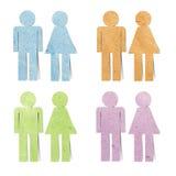 Métier de papier réutilisé par graphisme de sexe d'étiquette Image stock