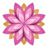 Métier de papier réutilisé par origami de fleur photo stock