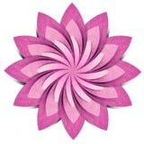 Métier de papier réutilisé par origami de fleur Photographie stock libre de droits