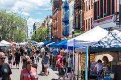Métier de rue et marché d'agriculteurs Image stock