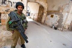 Métier israélien dans Hebron Image libre de droits