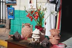 Métiers avec des fleurs Photographie stock libre de droits