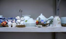 Métiers de porcelaine à bord Image libre de droits