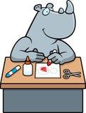 Métiers de rhinocéros de bande dessinée illustration de vecteur