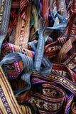 Métiers fabriqués à la main péruviens Photographie stock