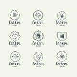 Métiers Logo Set fait main illustration de vecteur