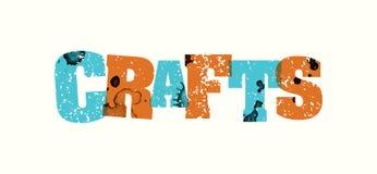 Métiers Word embouti par concept Art Illustration illustration libre de droits
