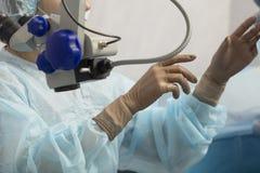 Método cirúrgico substituível da lente cristalina imagens de stock