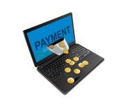 Método de pago en mundo de las TIC Foto de archivo libre de regalías